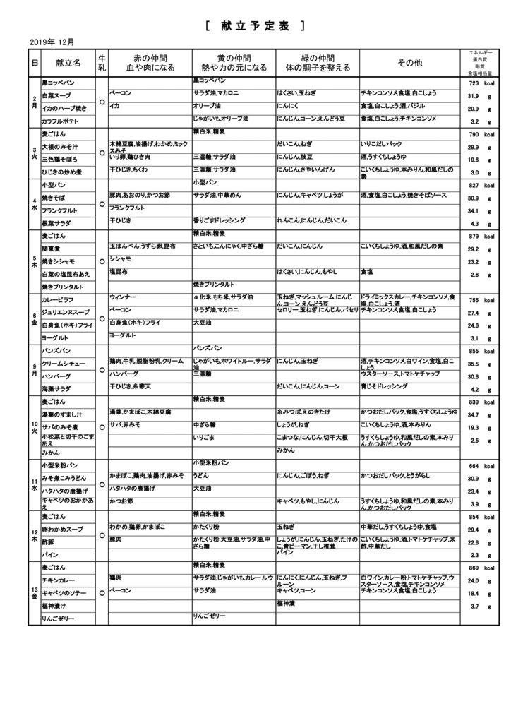 2019 12月緑陽中材料表のサムネイル